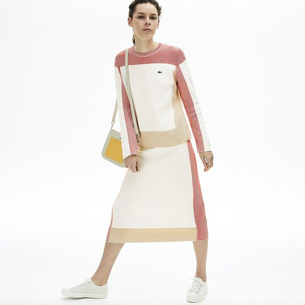Women's Colourblock Pencil Skirt, FLOUR/TAFFY-CORRIDA, hi-res