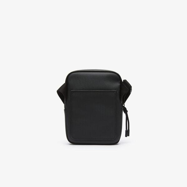 Men's L.12.12 Small Flat Crossover Bag, BLACK, hi-res