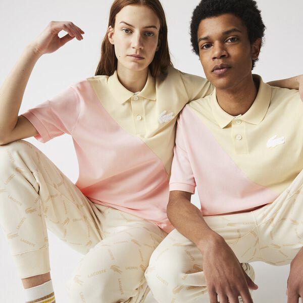 Unisex LIVE Loose Fit Colorblock Cotton Piqué Polo