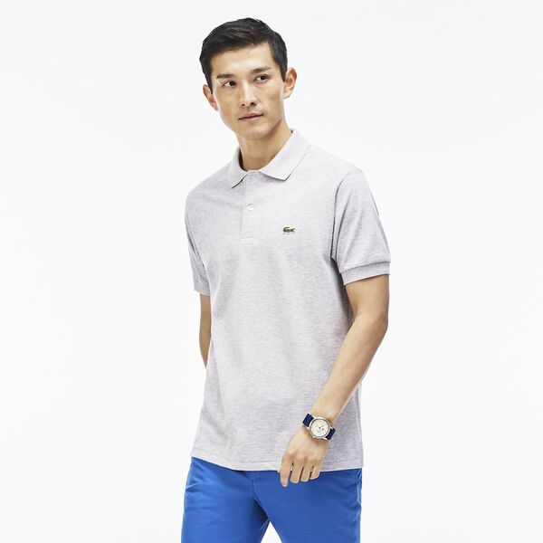 Men's 2 Ply Classic Fit Polo, SILVER CHINE, hi-res