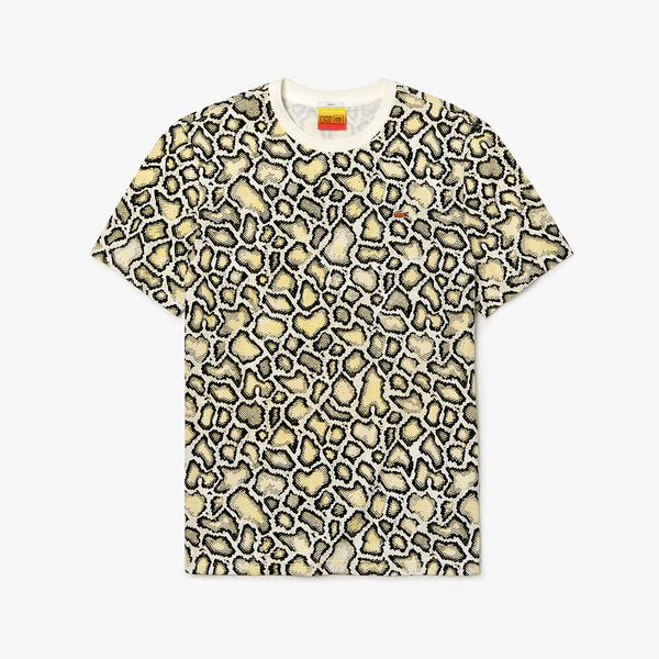 UNISEX LACOSTE LIVE X OPENING CEREMONY EMBROIDERED TEE, MASCARPONE/MULTIC, hi-res