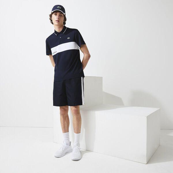 Men's SPORT Colorblock Breathable Resistant Polo, NAVY BLUE/WHITE-NAVY BLUE, hi-res