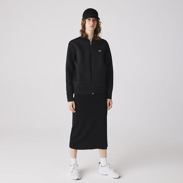 Women's Full Zip Neoprene Bomber Jacket