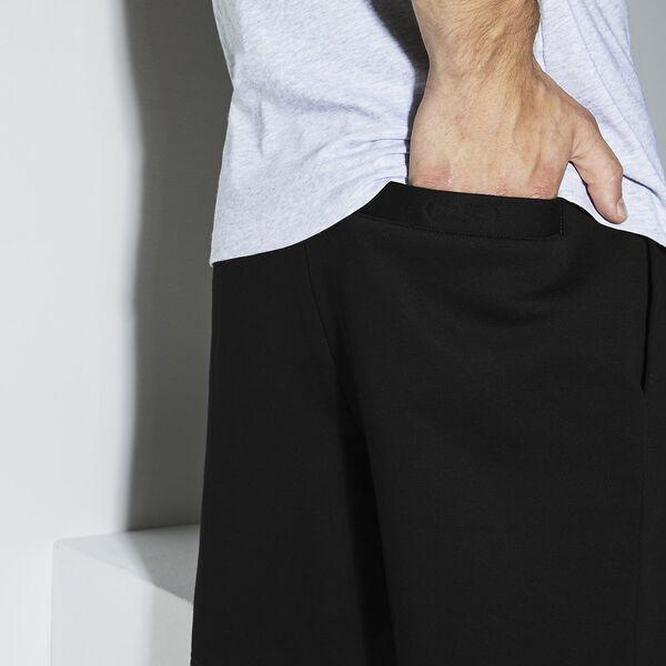 Men's SPORT Tennis Fleece Shorts, BLACK, hi-res