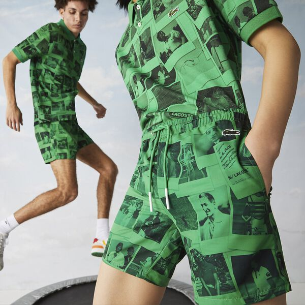 Unisex Lacoste LIVE x Polaroid Print Swimming Trunks