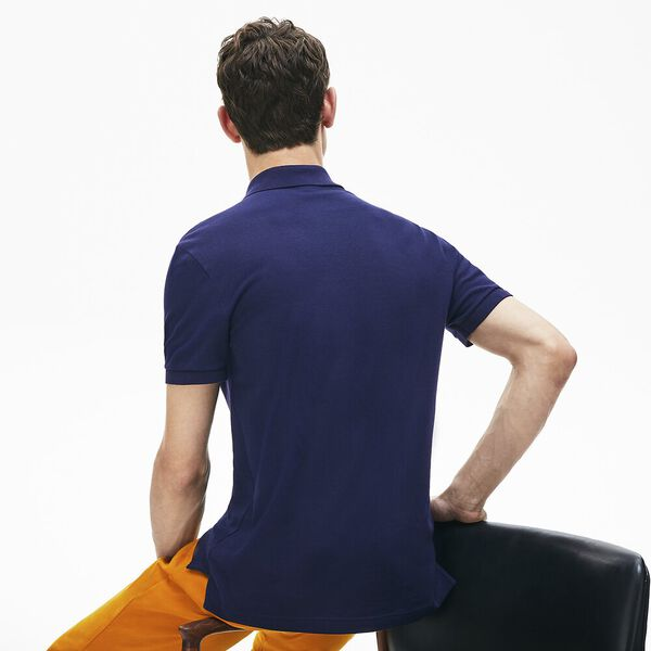 Men's Slim Fit Polo, NAVY BLUE, hi-res