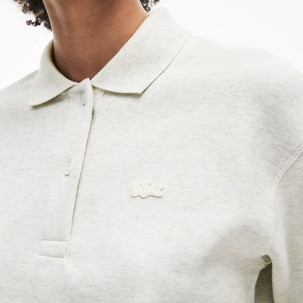 Women's Lacoste Motion Double Face Polo, FLOUR, hi-res