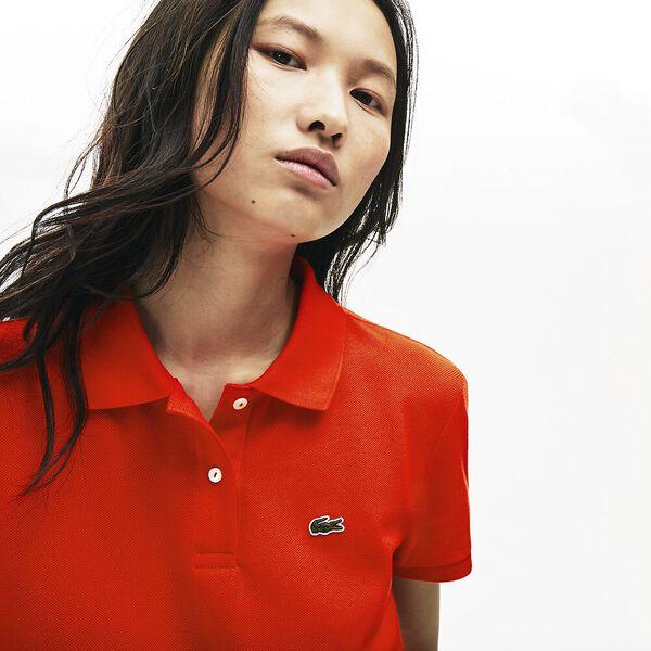 Women's Classic Fit Soft Cotton Petit Piqué Polo Shirt, CORRIDA, hi-res