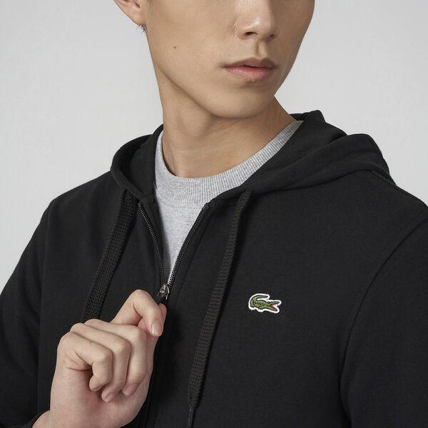 Men's SPORT Fleece Cotton Blend Hoody Sweatshirt, NAVY BLUE/, hi-res