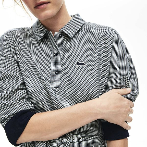 Women's Tattersalls Fitted Waist Dress, GEODE/WHEELWRIGHT-NAVY BLUE, hi-res