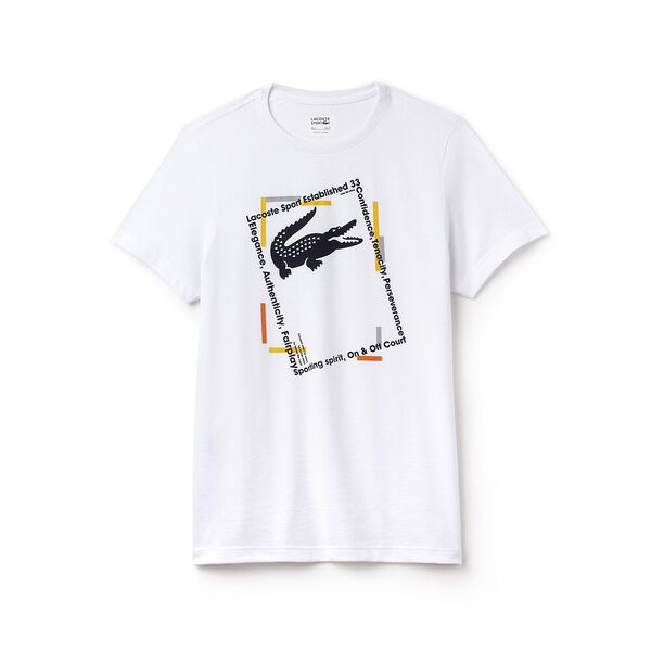 MEN'S PICTURE FRAME TEE, WHITE/NAVY BLUE/BUTTERCUP, hi-res
