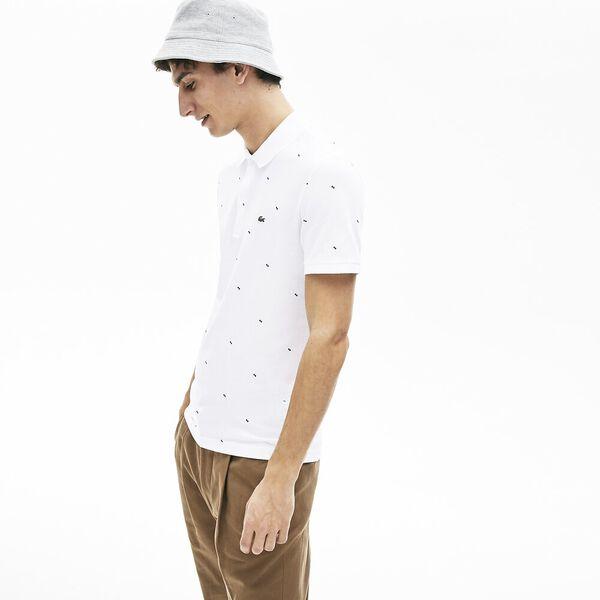 Men's Slim Fit Lacoste Polo, BLANC, hi-res