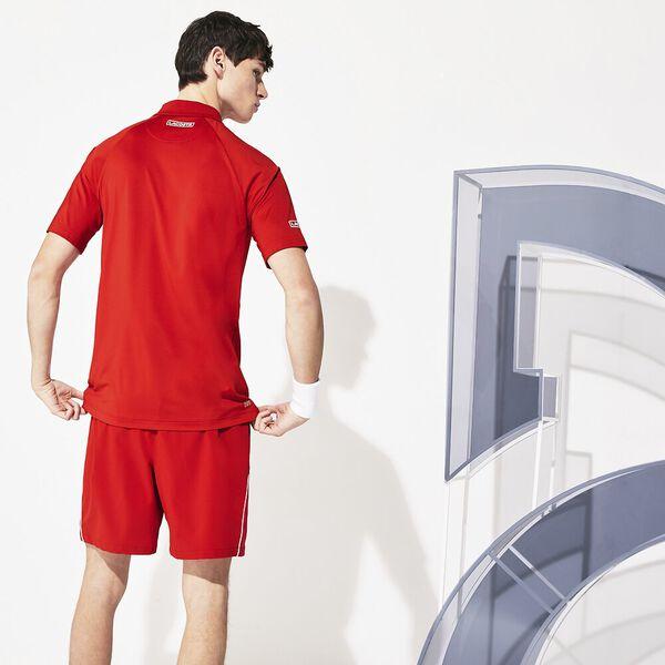 Men's SPORT Roland Garros Two-Tone Piqué Visor, POMPIER/BLANC-BLANC, hi-res