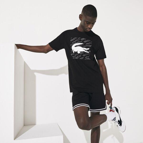 Men's  SPORT Reflective Crocodile Print Cotton T-shirt
