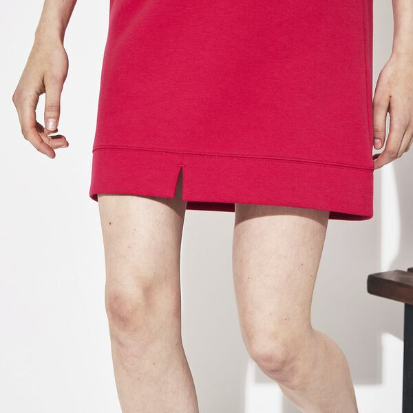 Women's Tennis Double Faced Fleece Dress, CLAFOUTIS/WHITE-BLACK, hi-res
