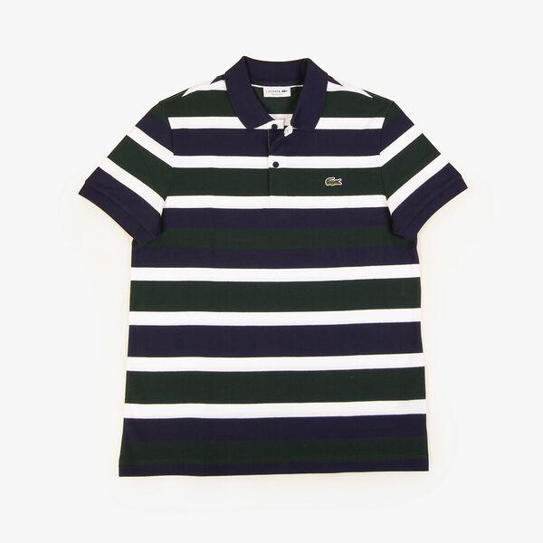 Men's Golden Week Reg Fit Stripe Polo, SINOPLE/WHITE-NAVY BLUE, hi-res
