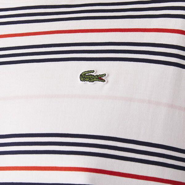 Women's Dissimilar Striped Pleated Jersey T-shirt Dress, CORRIDA/MARTEN-NAVY BLUE, hi-res