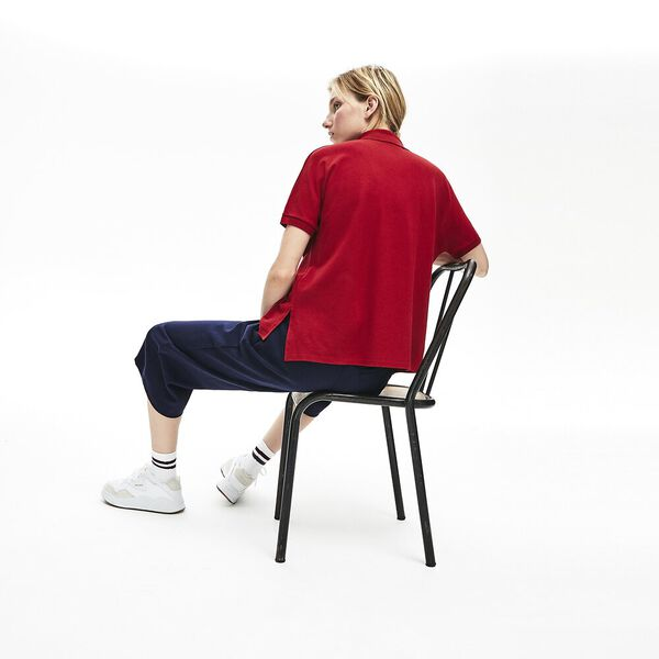 Women's Relaxed Fit Polo, ALIZARIN, hi-res