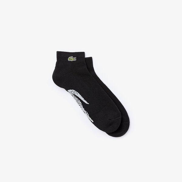 Men's SPORT Tennis XL Crocodile Terrycloth Socks, NOIR/ARGENT CHINE, hi-res