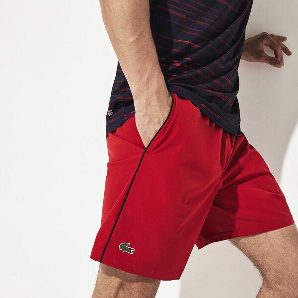 Men's Novak Djokovic Stretch Short, TOKYO RED/NAVY BLUE, hi-res