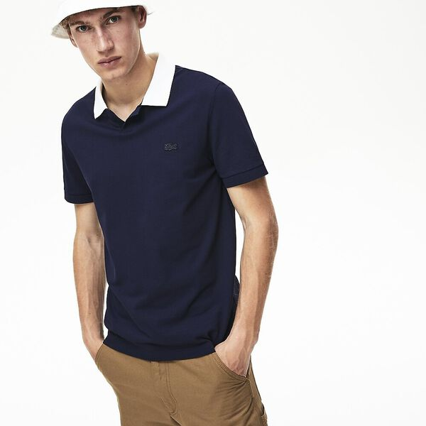 MEN'S CONTRAST COLLAR POLO