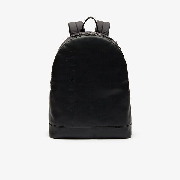 Men's L.12.12 Signature Leather Zip Backpack