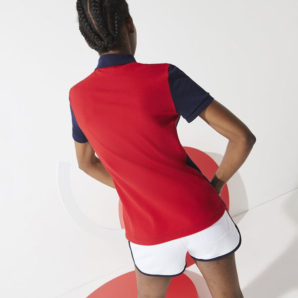 Women's SPORT French Sporting Spirit Fleece Shorts, WHITE/RED-NAVY BLUE, hi-res