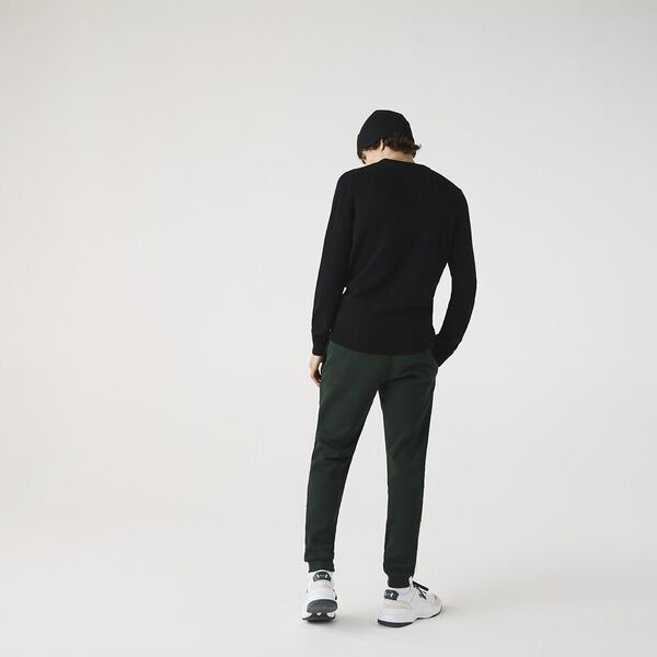 Men's Wool knitted Sweater, BLACK, hi-res