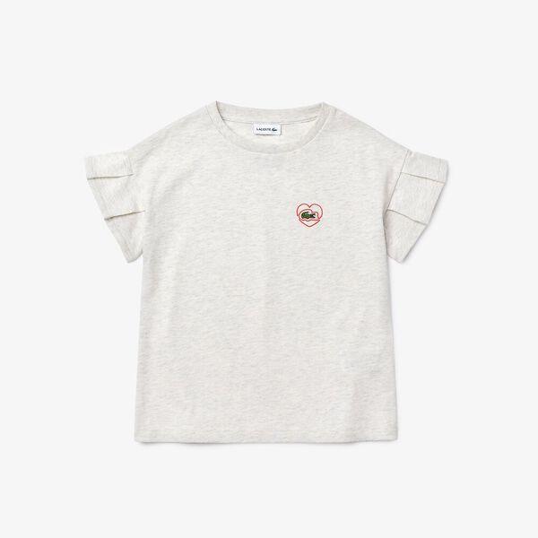 Girl's Ruffle Sleeved Cotton T-shirt