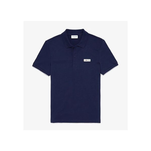 Men's Tricolor Signature Badge Polo Shirt, NAVY BLUE, hi-res
