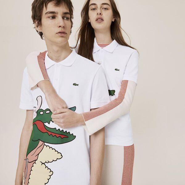 Men's Jean-Michel Tixier Big Croc Polo, WHITE, hi-res