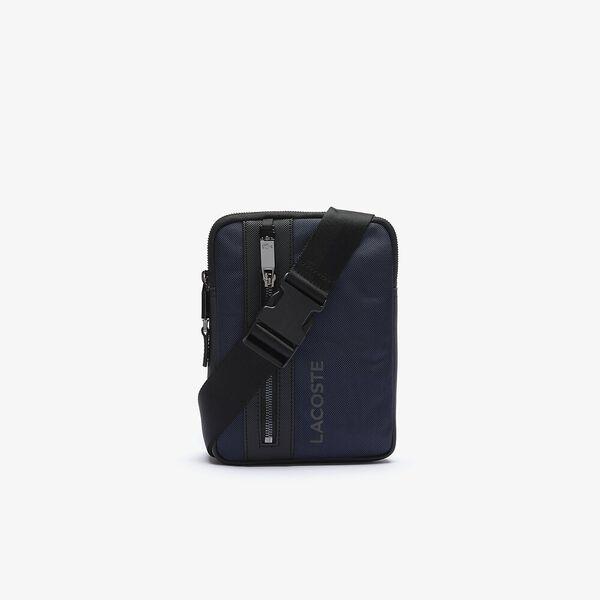 Men's L On The Go Resistant Canvas Zip Crossbody Bag