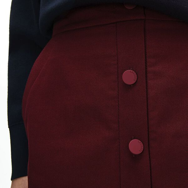 Women's Casual Elegance Cotton Skirt, WINE 0, hi-res