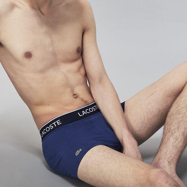 Mens Underwear  Trunk 3 Pack, NAVY BLUE/RED-METHYLENE, hi-res