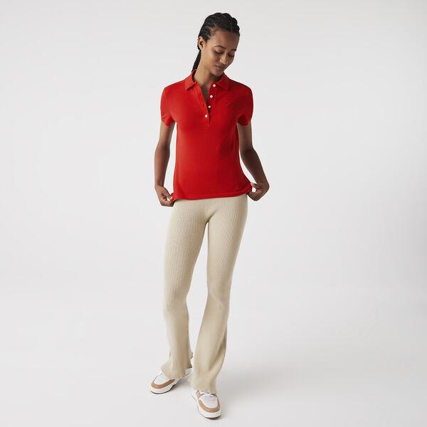 Women's Lacoste Stretch Cotton Piqué Polo Shirt, ELFE, hi-res