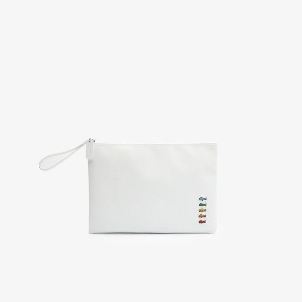 Women's Lacoste x Polaroid Piqué Canvas Large Zip Pouch