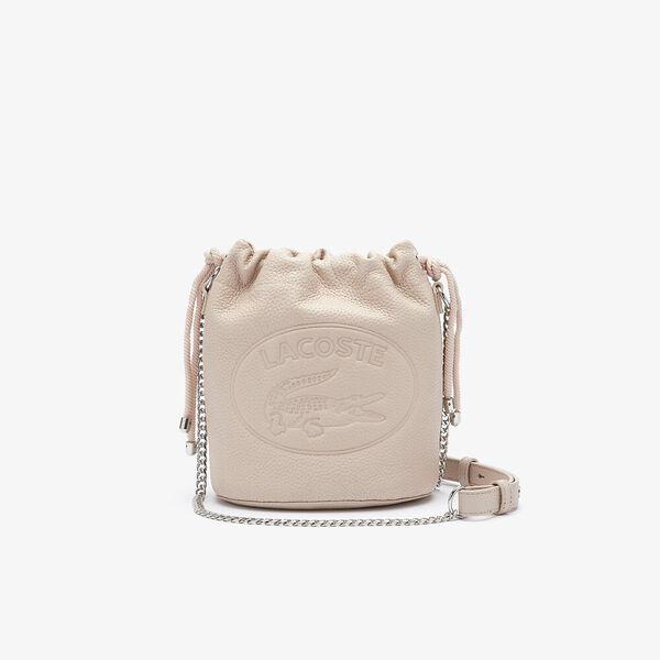 Women's Croco Crew Grained Leather Bucket Bag