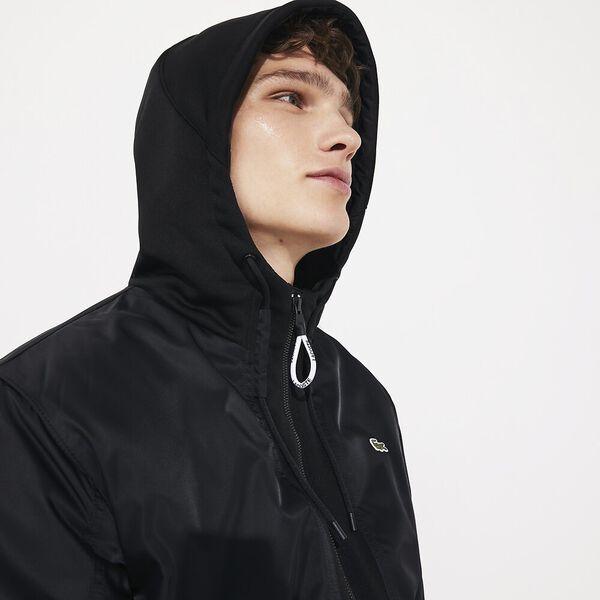 Men's Lacoste SPORT Bi-Material Water-Resistant Zip Jacket