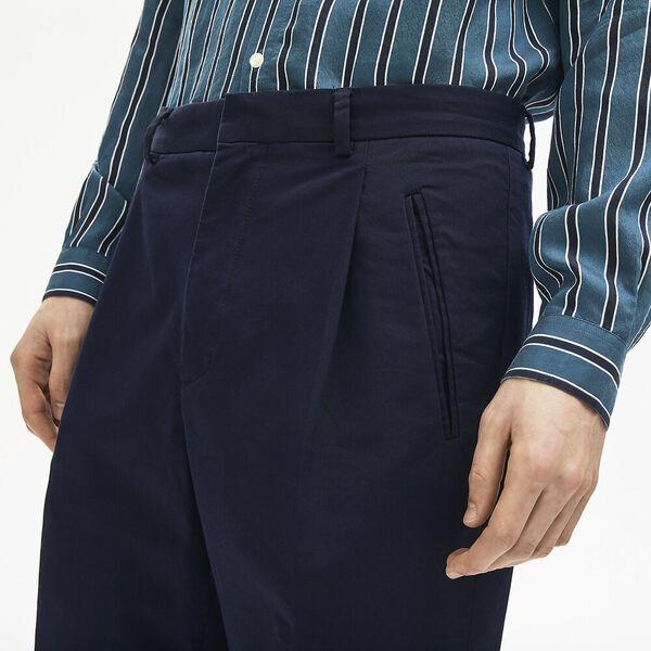 Men's Classic Pleat Front Chino Pant, DARK NAVY BLUE, hi-res