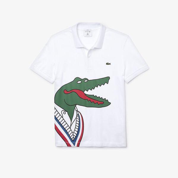Men's Jean-Michel Tixier Big Croc Polo, WHITE/RED, hi-res