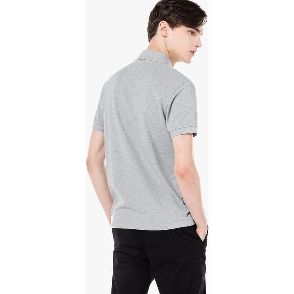 Men's Cotton Piqué Slim Fit Polo, SILVER CHINE, hi-res