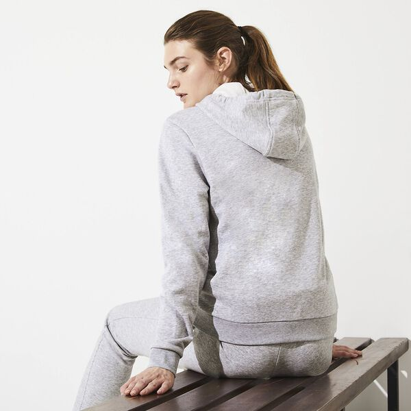 Women's Tennis Zip Front Fleece Sweat, SILVER CHINE/SILVER CHINE, hi-res
