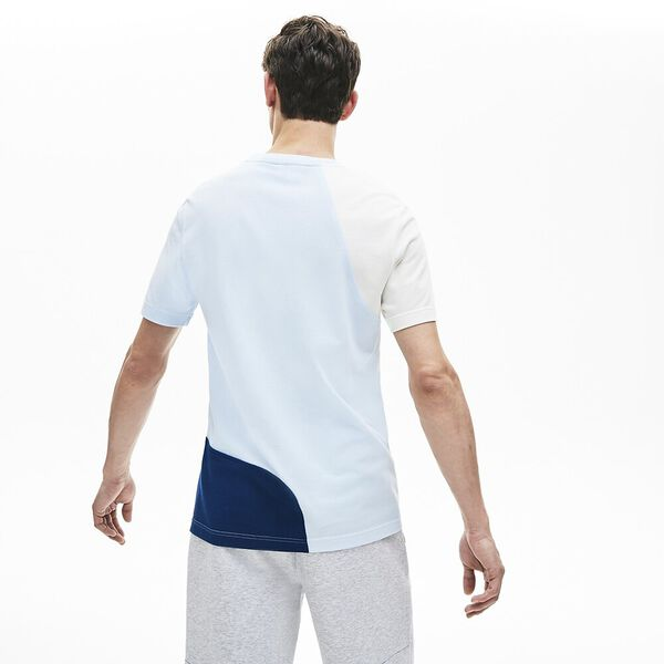 Men's Innovation Colour Block Tee, FLOUR/RAFFIA MATTING-RILL, hi-res