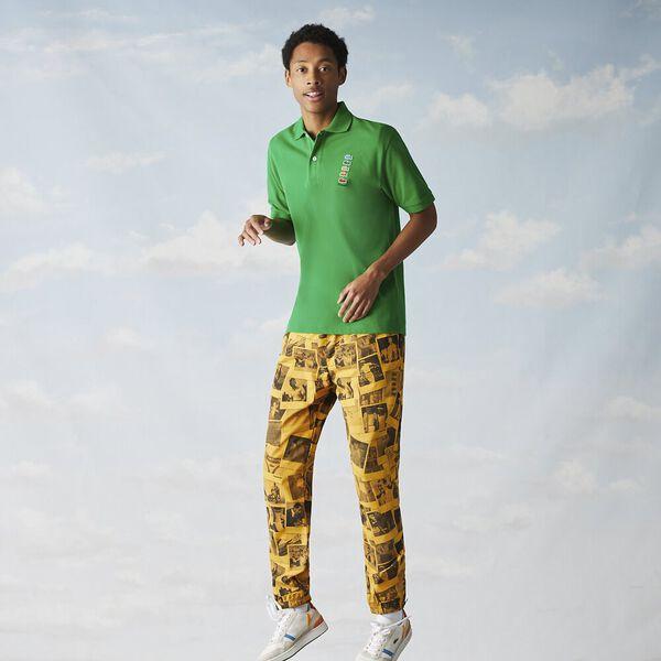 Men's Lacoste x Polaroid Colored Crocodiles Cotton Piqué Polo, MALACHITE, hi-res