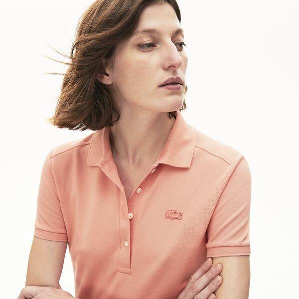 Women's Stretch Cotton Piqué Polo Shirt, ELFE, hi-res