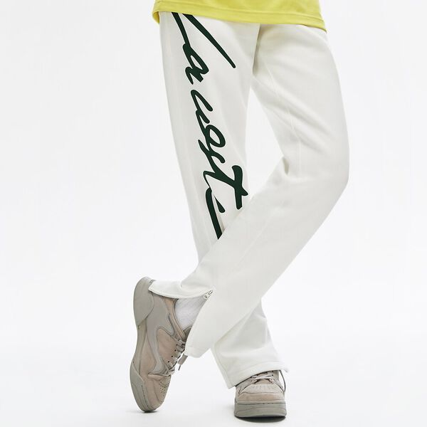 Unisex L!Ive Signature Fleece Pant, FLOUR/GREEN, hi-res