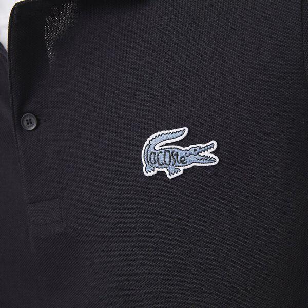 Men's Regular Fit Badge Cotton Piqué Polo, ABYSM, hi-res
