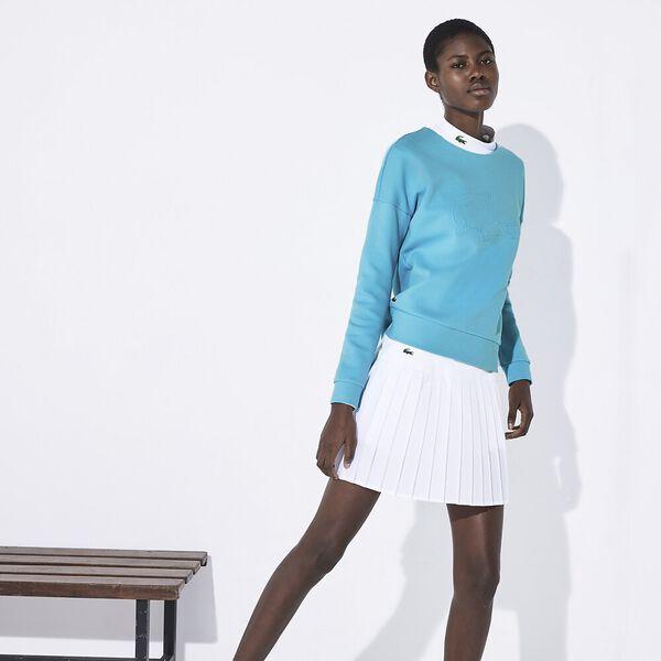 Women's Lacoste SPORT Oversized 3D Croc Fleece Tennis Sweatshirt, HAITI, hi-res