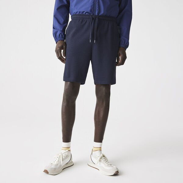 Men's Tennis SPORT Cotton Fleece Shorts, MARINE, hi-res