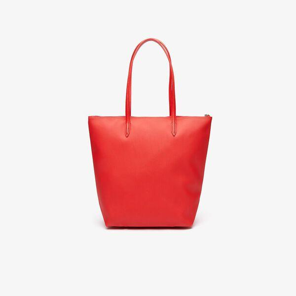 Women's L.12.12 Vertical Shopping Bag, HIGH RISK RED, hi-res